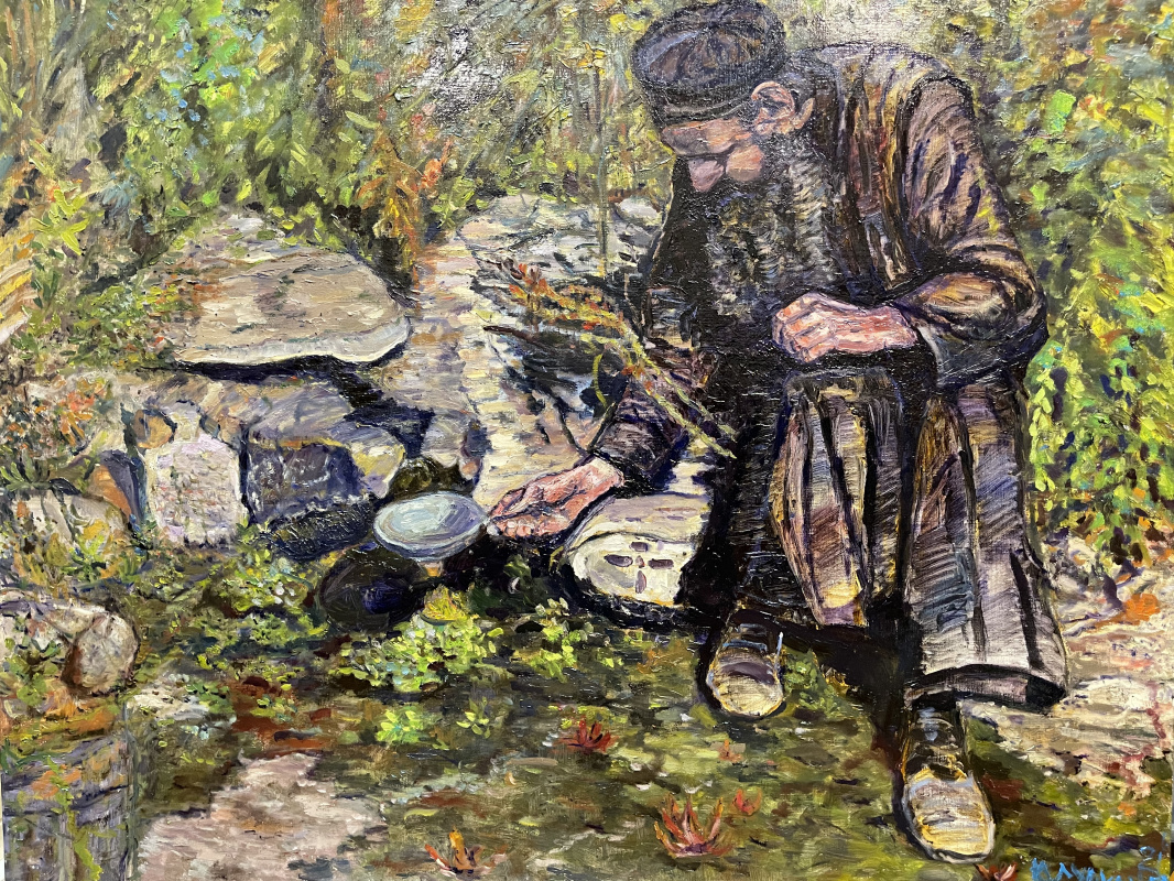 Yury Anatolevich Surkanov. Афон. Монах у святого источника