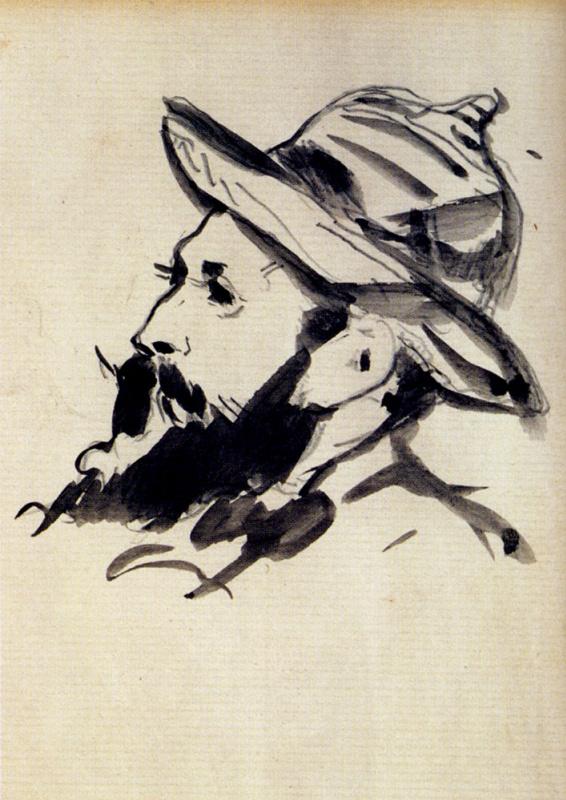Эдуар Мане. Голова мужчины (Клод Моне)