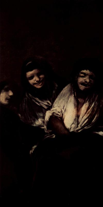 Франсиско Гойя. Серия мрачных картин. Две женщины и мужчина