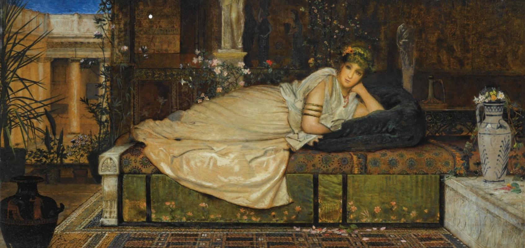 John Atkinson Grimshaw. Woman in a classic interior