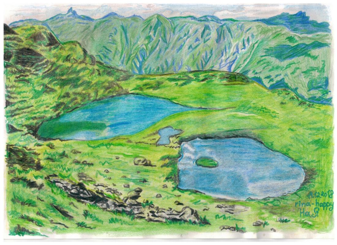 "Ирина Владимировна Хазэ. Landscape ""Lakes"""