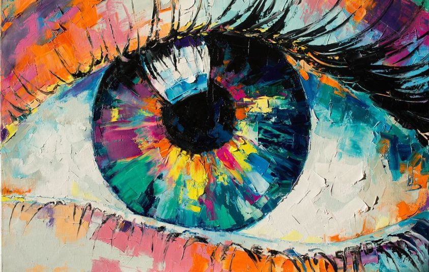 Nguyen Ngoc Hung. Abstract Eye Oil Painting, Colorful Modern Wall Art, Eye Canvas Art, Eye Painting, Contemporary Art, Colorful Wall Decor, Picture Of The Eye