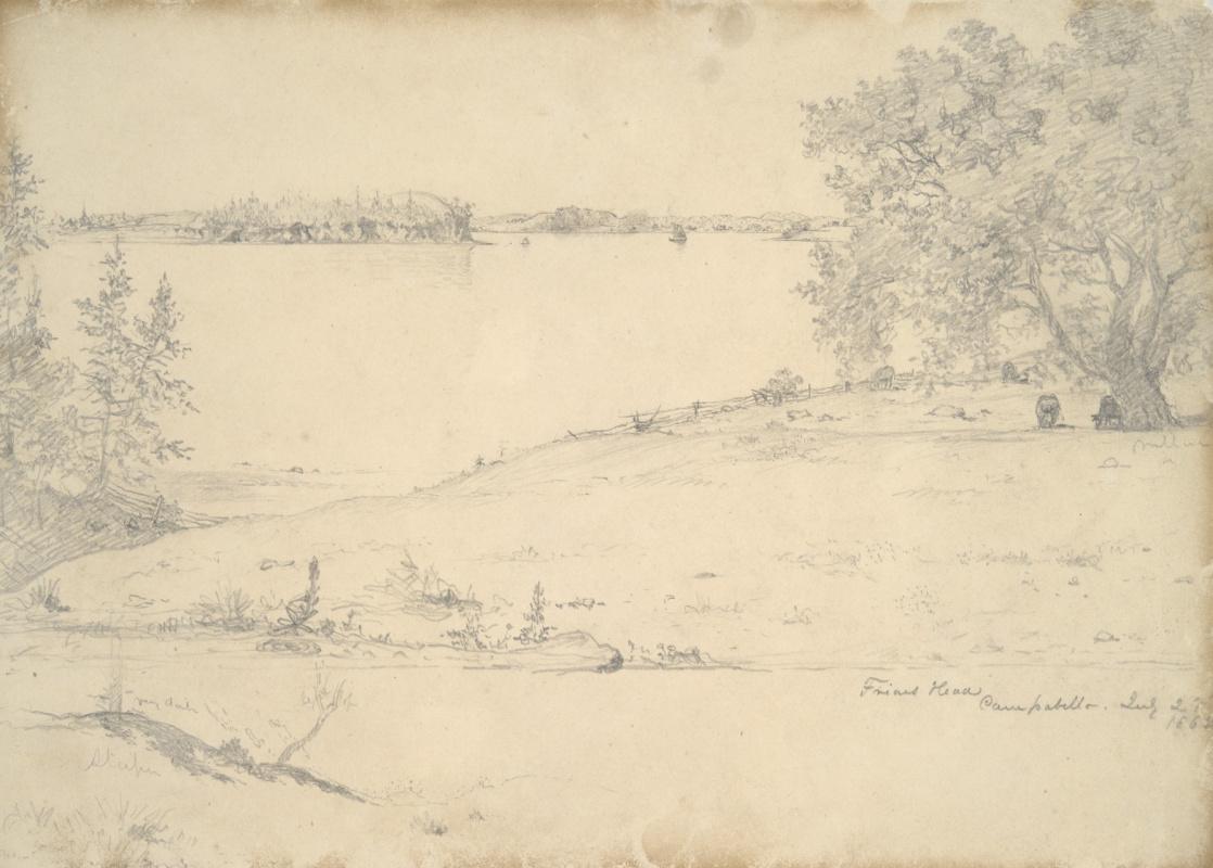 Martin Johnson Head. Landscape in Campobello. Sketch