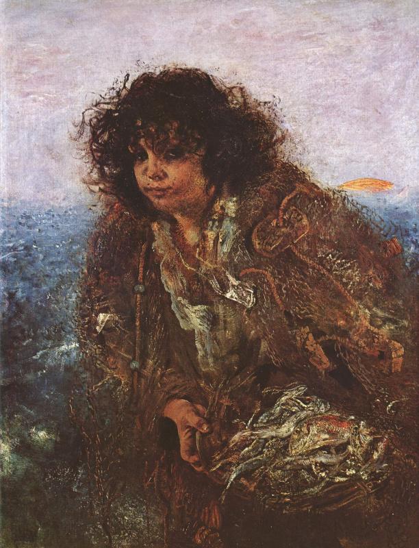 Антон Ромако. Итальянская рыбачка