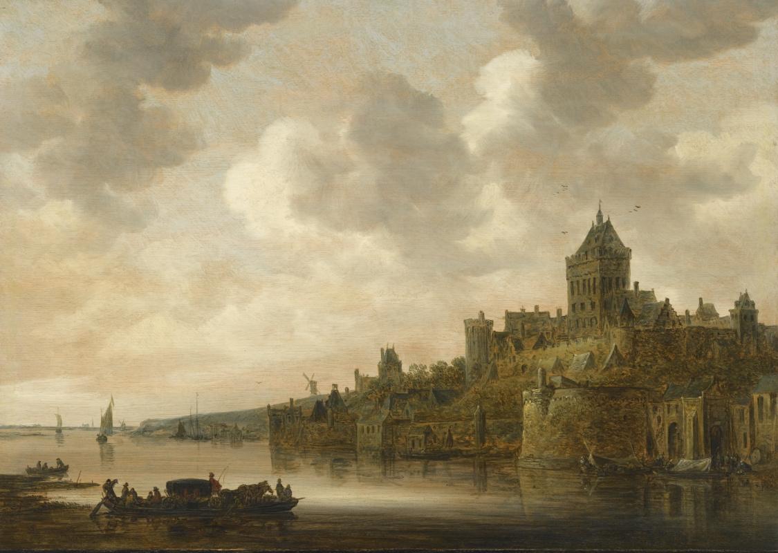 Jan van Goyen. Castle Valkhof, Nijmegen on the river Waal
