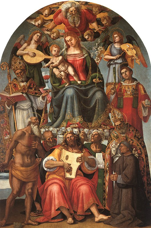 Luke Signorelli. Virgin with the baby