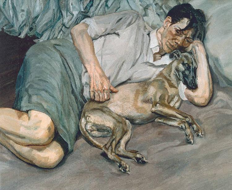 Люсьен Фрейд. Двойной портрет