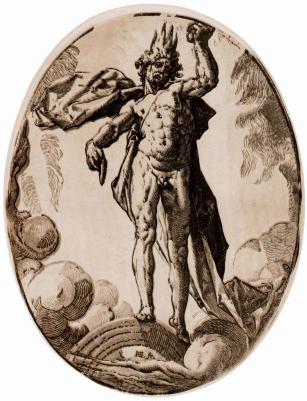 "Hendrik Goltzius. Series ""Ancient gods""[05], Helios"