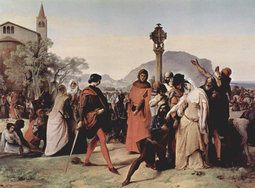 "Франческо Айец. Цикл картин ""Сицилианские вечера""."