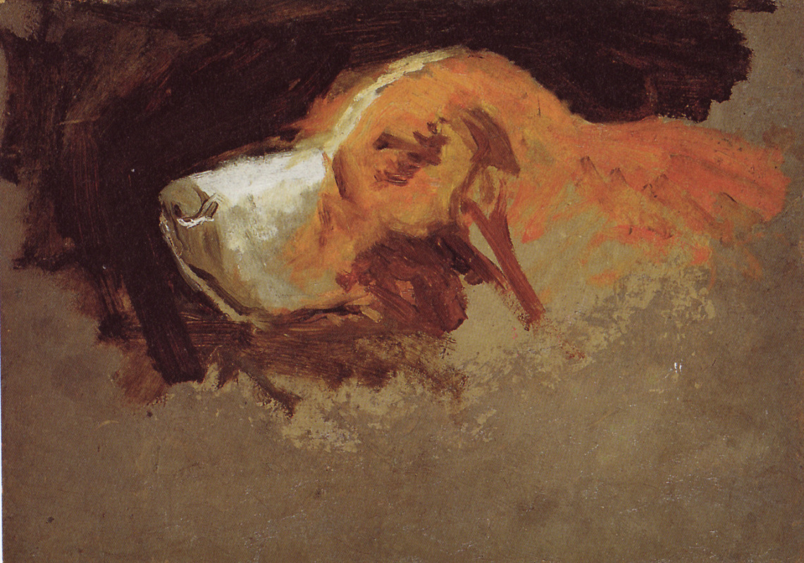 Thomas Eakins. Sketch the head of a dog Harry