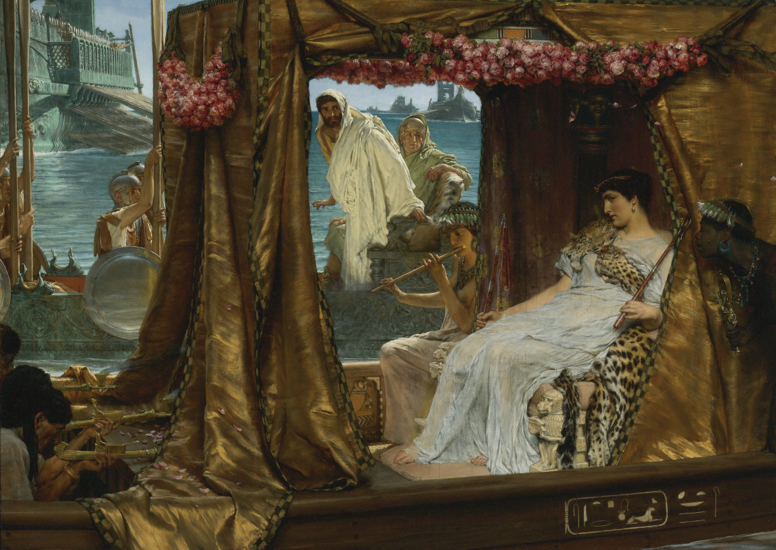 Lawrence Alma-Tadema. The Meeting of Antony and Cleopatra