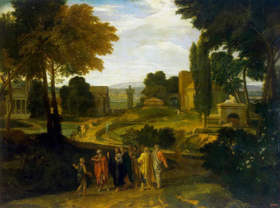 Жан-Франсуа Милле. Пейзаж с Христом и учениками
