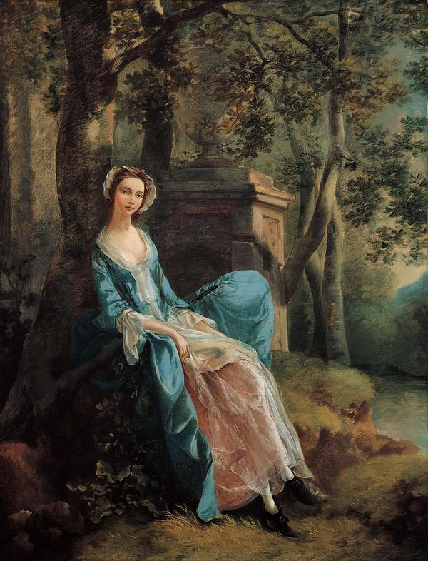Thomas Gainsborough. Portrait of a woman possibly of the Lloyd family