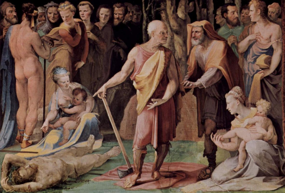 Доменико Беккафуми. Постумий Тибурций убивает своего сына