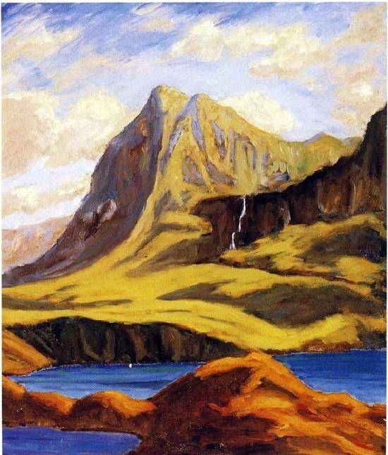Winston Churchill. Of the mountains near Lochmore. Scotland.