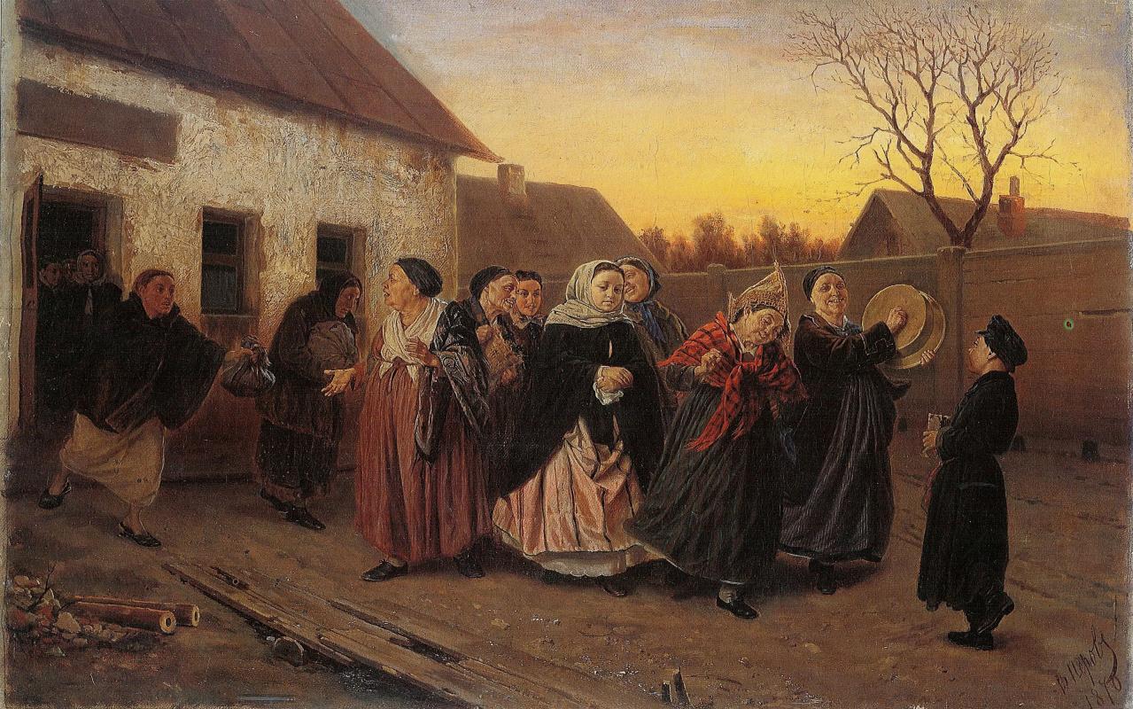 Василий Григорьевич Перов. Накануне девичника. (Проводы невесты из бани)