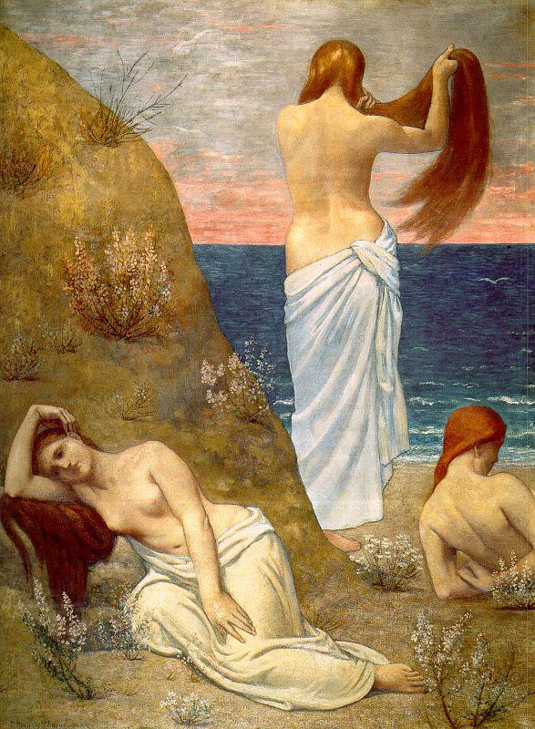 Pierre Cecil Puvi de Chavannes. The girls on the beach