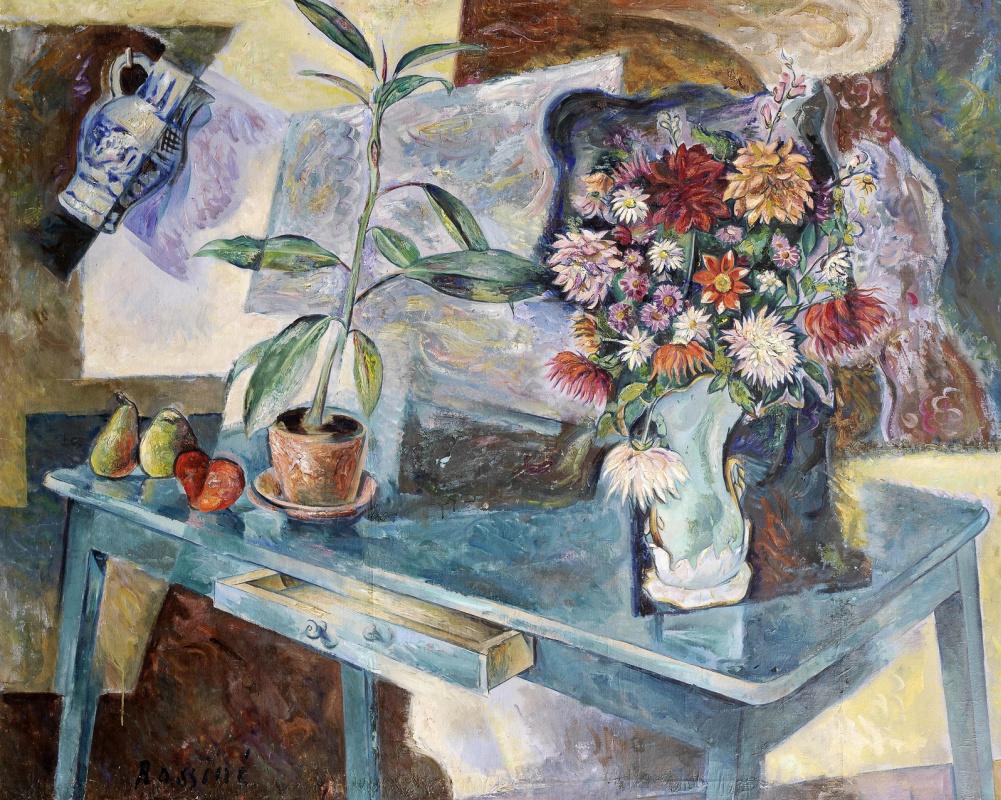 Владимир Давидович Баранов-Россине. Натюрморт с цветами и фруктами