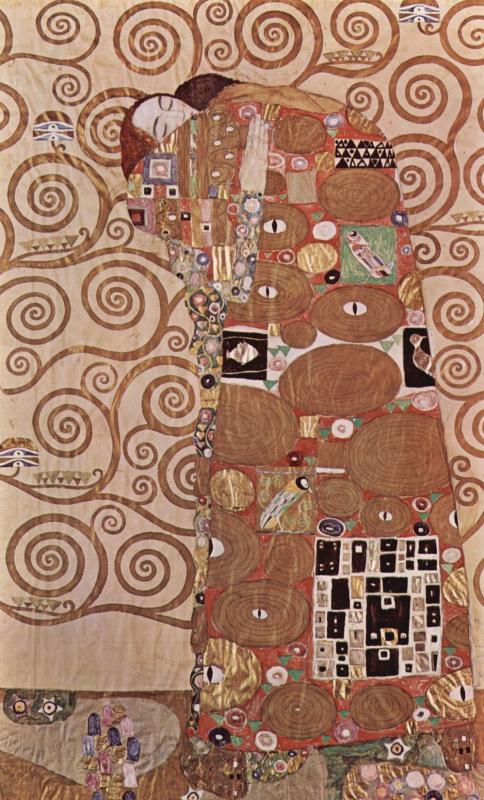 Густав Климт. Стокле фриз. Объятие (фрагмент)