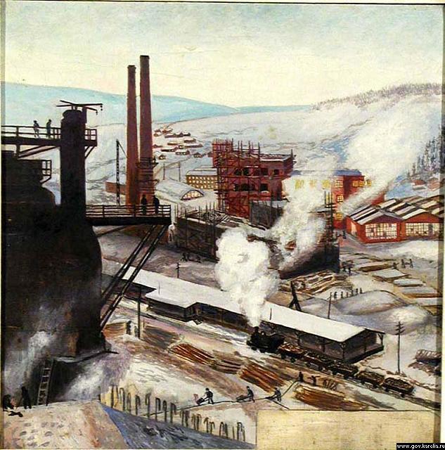 Mikhail Petrovich Tsybasov. Industrial landscape