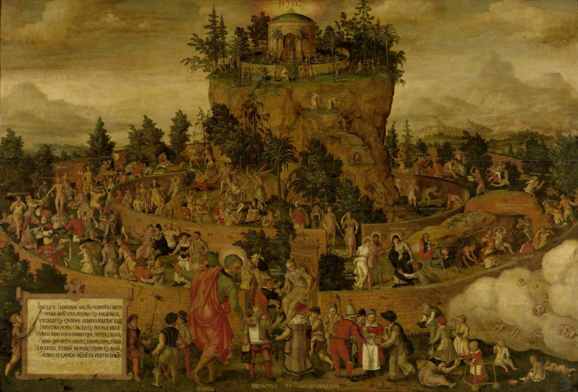 Unknown artist. Tabula Cebetis (allegorical image of the man Kebes) 1573