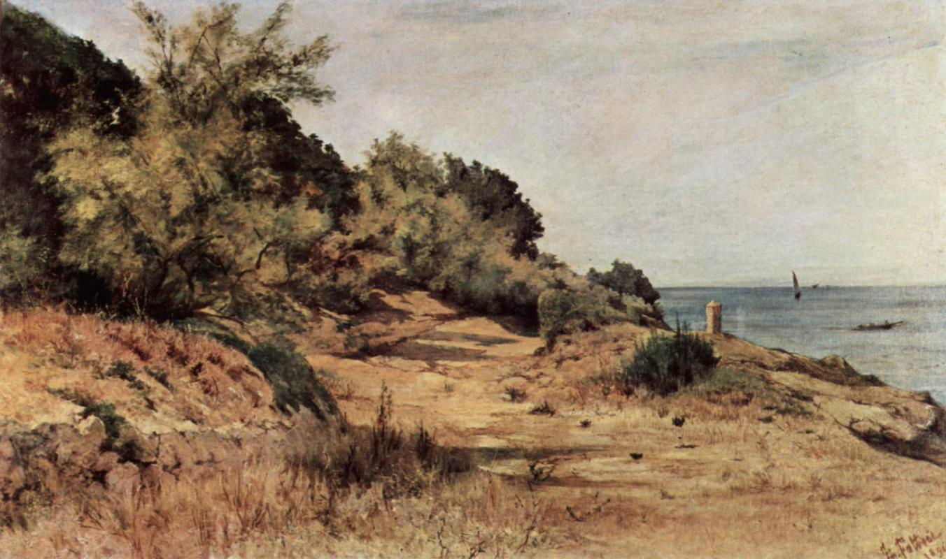 Giovanni Fattori. Forested beach