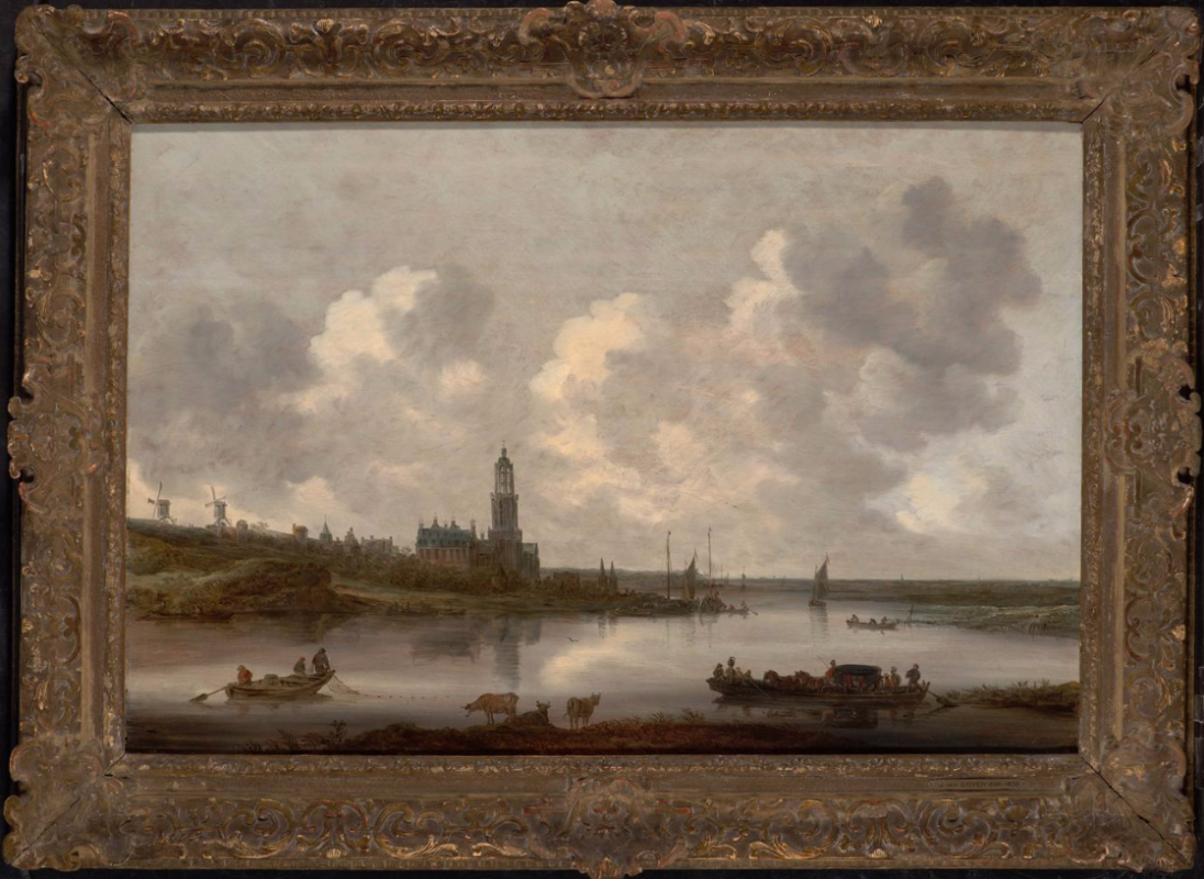 The view of the Rhine in Rhenen
