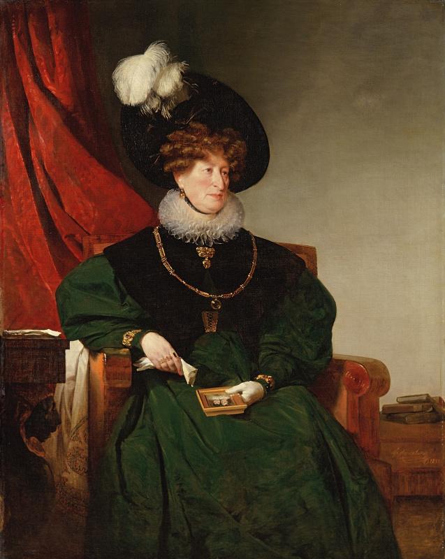 Фридрих фон Амерлинг. Портрет баронессы Сесилии фон Эскелес. 1832