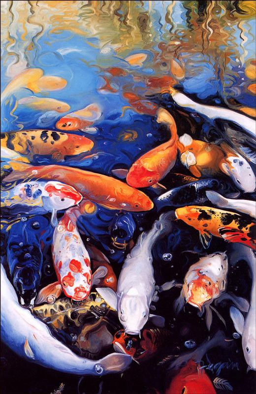 Уильям Феган. Рыбы под водой
