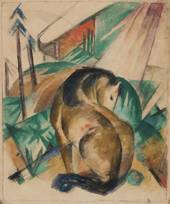 Franz Marc. Seated Horse