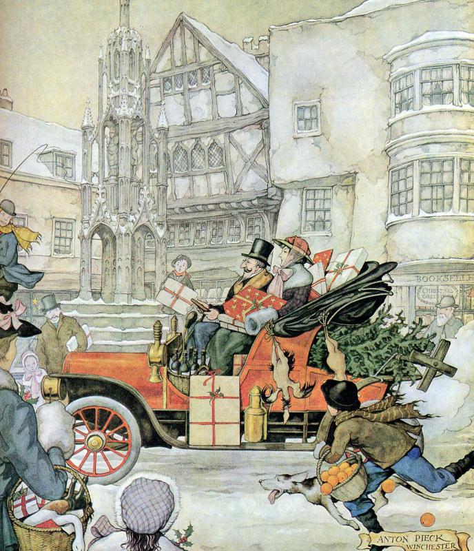 Антон Пик. Городские сцены. Перед рождеством, Винчестер