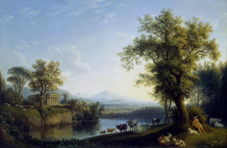 Якоб Филипп Хаккерт. Пейзаж со стадом