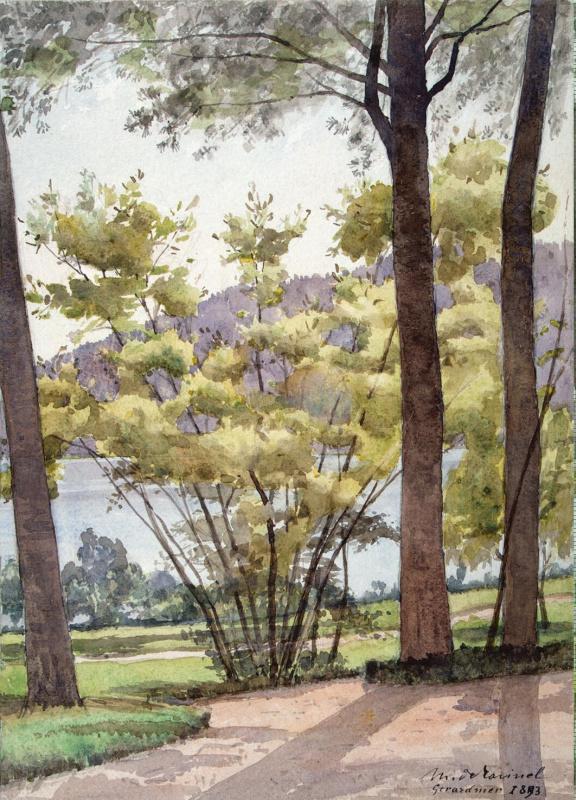 Жерардин де Равинель. Пейзаж с озером
