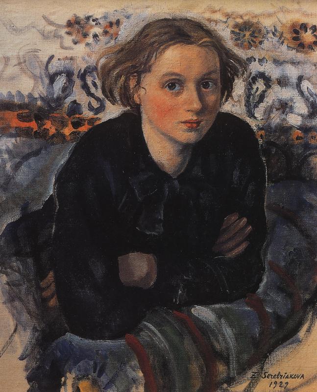 Зинаида Евгеньевна Серебрякова. Портрет дочери Кати