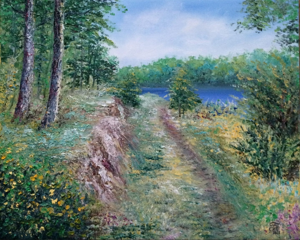 Galina Nikolaevna Silina. Karelian landscape.