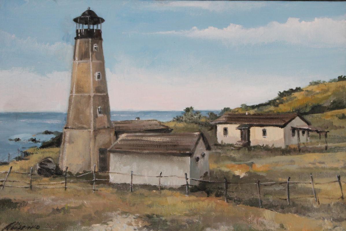 Alessia Lisenko. Lighthouse in Merzhanovo