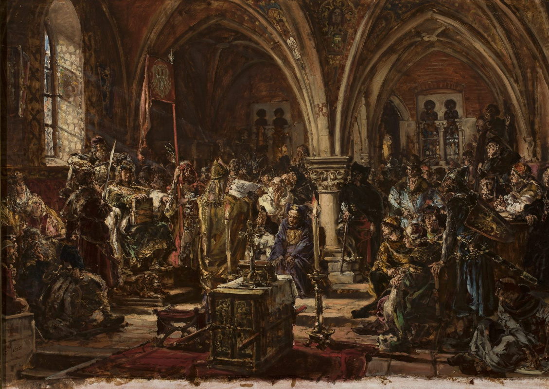 Jan Matejko. History of civilization in Poland. The first Diet of 1182