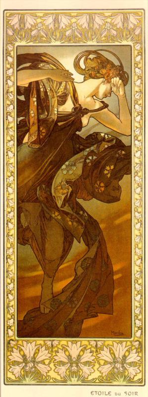 Alphonse Mucha. Evening star