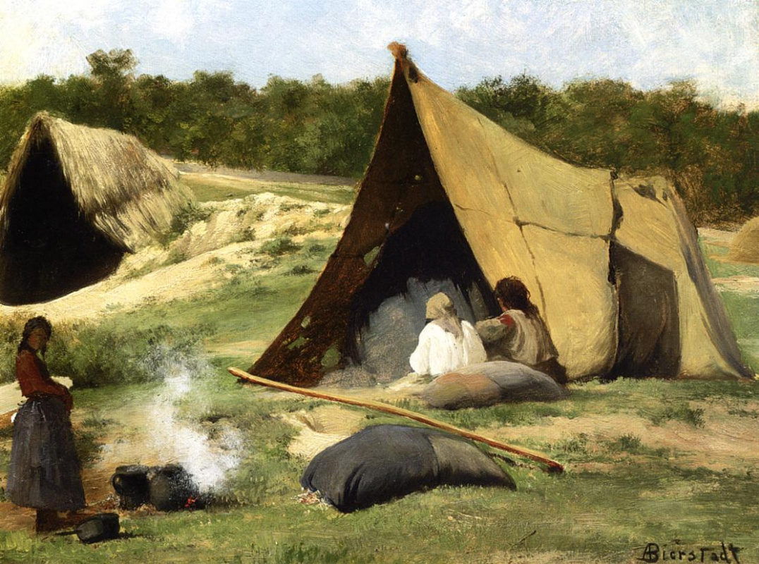 Альберт Бирштадт. Индейский лагерь