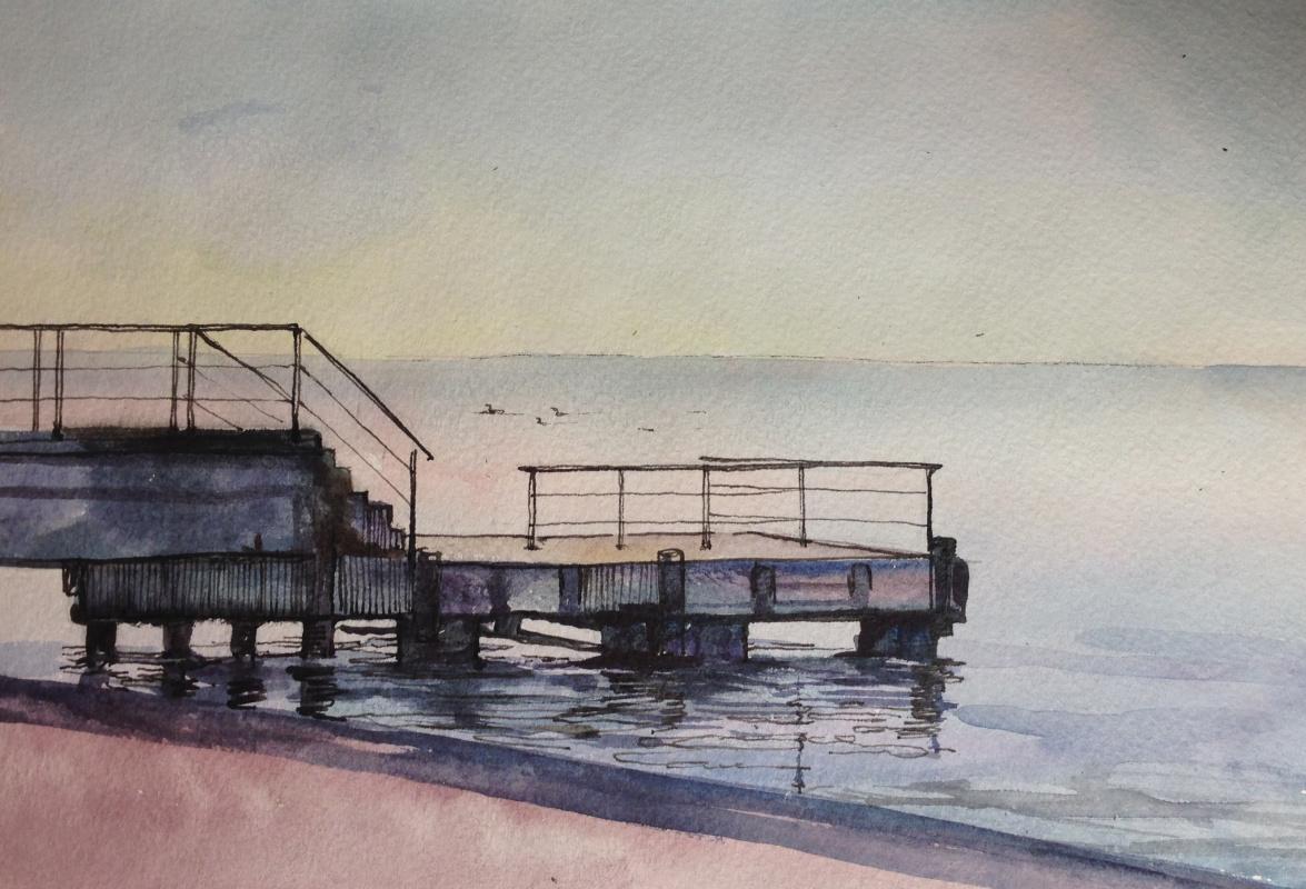 Alexander Tonkoshkurov. Watercolor sketches
