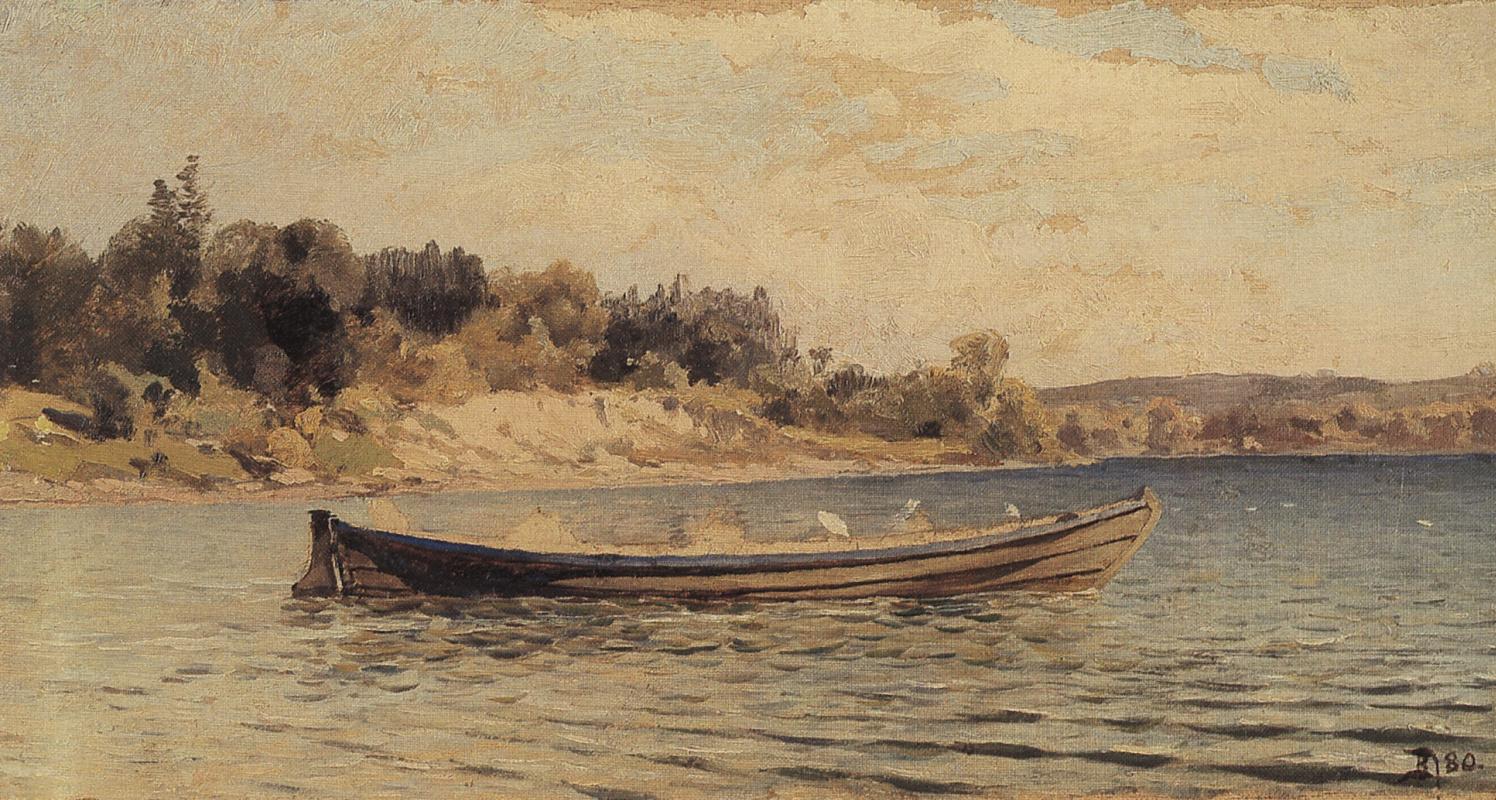 Vasily Dmitrievich Polenov. Boat on the Oyat River