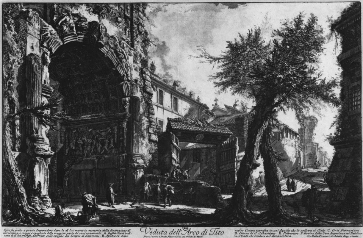 Джованни Баттиста Пиранези. Вид арки Тита