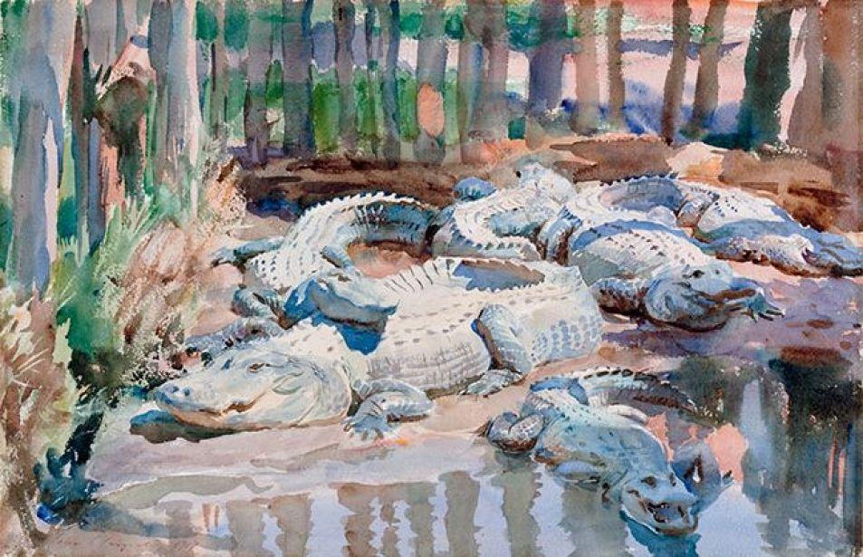 Джон Сингер Сарджент. Аллигаторы в болоте
