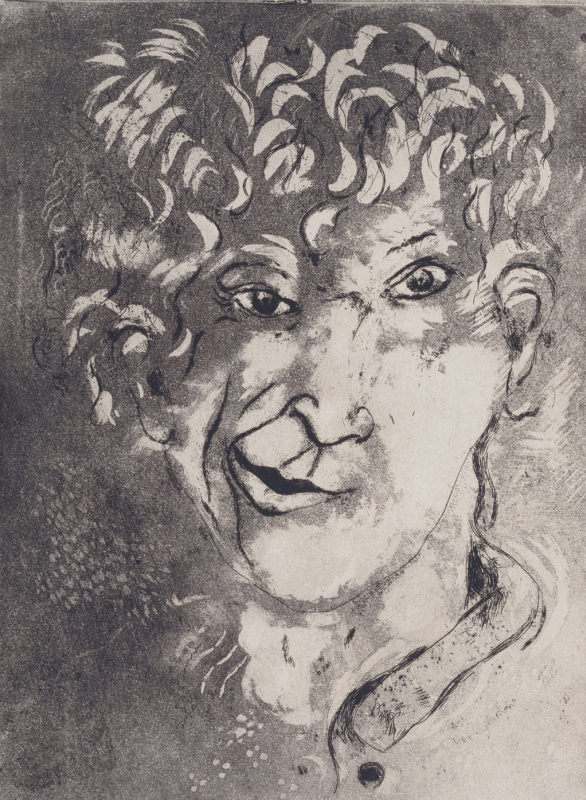 Marc Chagall. Self-portrait with grimace