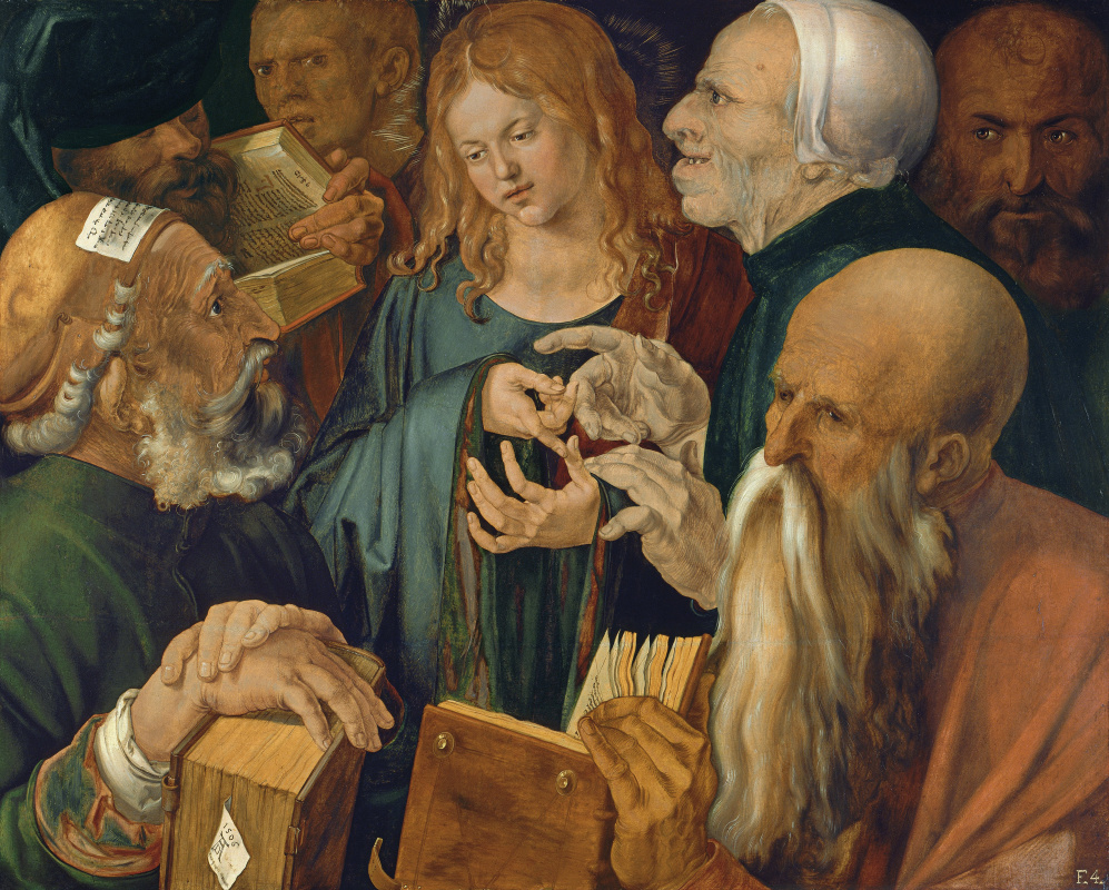 Albrecht Dürer. Christ among the Doctors