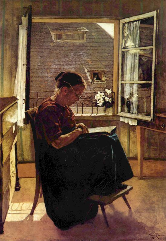 Ханс Тома. Мать художника в горнице