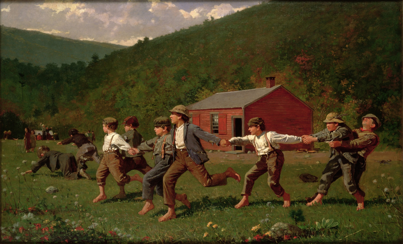 Winslow Homer. Snap of the whip (Version 1)