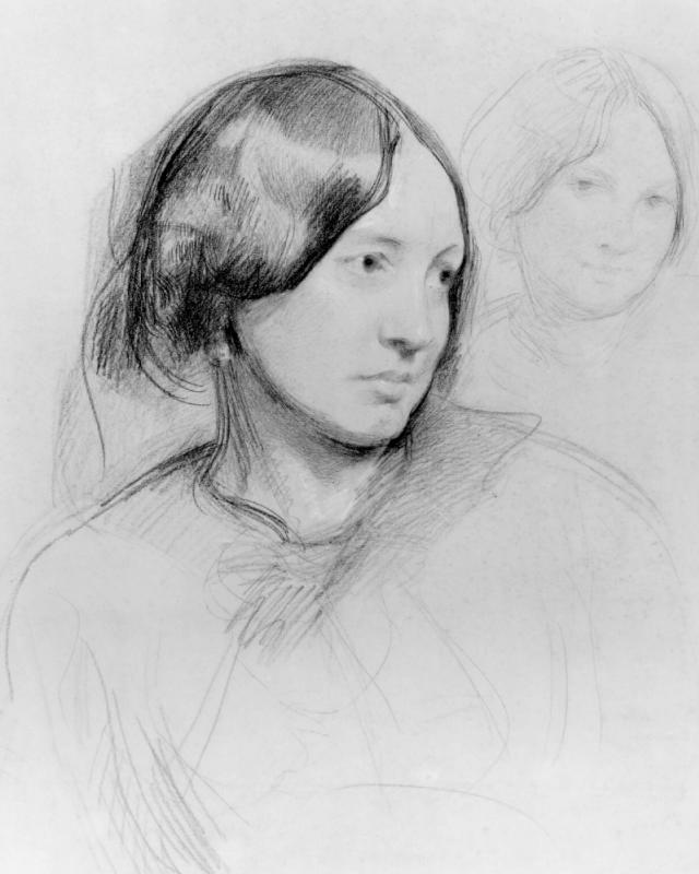 Frederick William Burton. Portrait of Mary Ann Cross