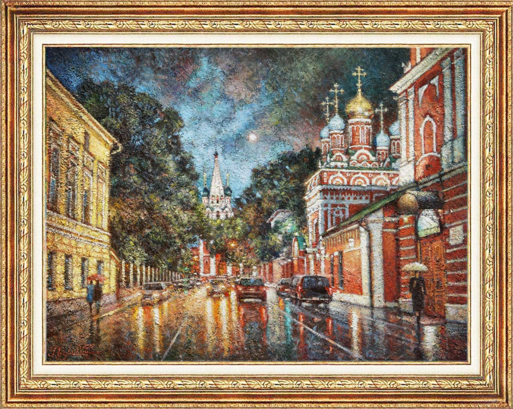 Igor Razzhivin. Rain walks through the old lanes.