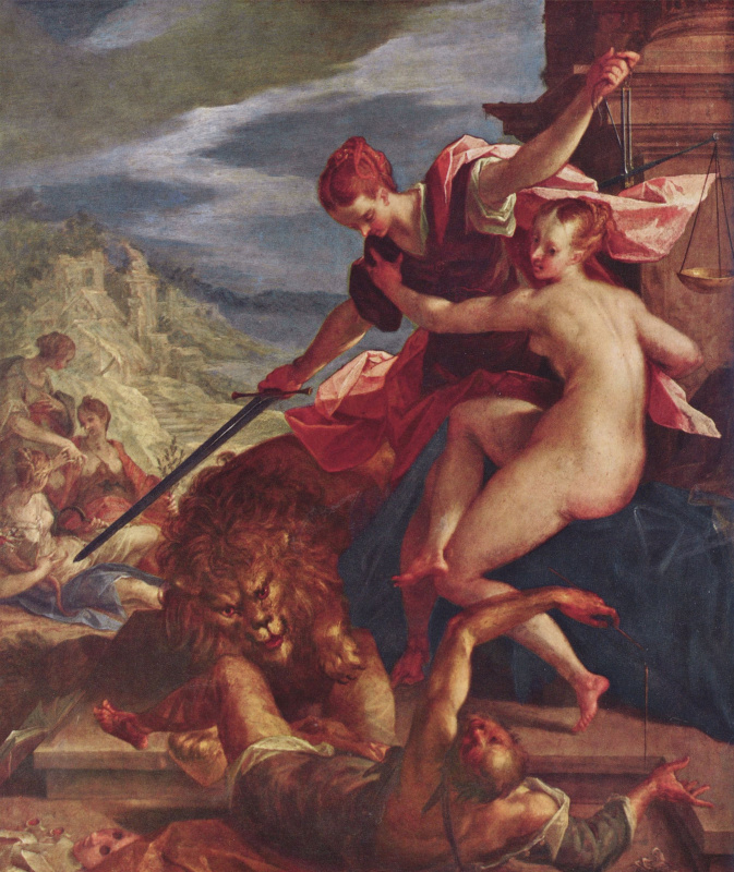Hans von Aachen. The triumph of Truth and Justice